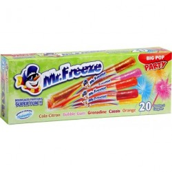 Mr.Freeze Big Pop Party 45ml (lot de 3 soit 60 bâtons glacés)