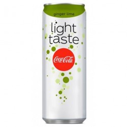 Coca-Cola Light Taste Citron Vert Gingembre 25cl (lot de 72)