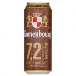 Kronenbourg Caractère Maltée au Whisky 50cl (pack de 12 canettes)