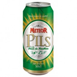 Meteor Pils Blonde 50cl (lot de 48 canettes)