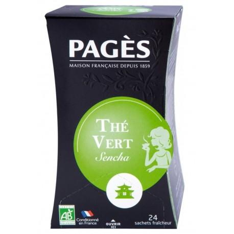Pages Thé Vert Sencha Doux Bio 20 sachets (lot de 3)