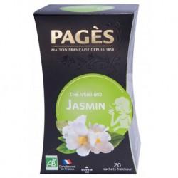 Pages Thé Vert Jasmin Bio 20 sachets (lot de 3)