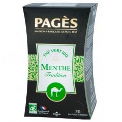 Pages Thé Vert Menthe Tradition Bio 20 sachets (lot de 3)