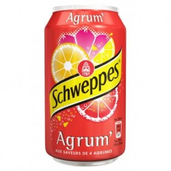 Schweppes Agrum 33cl (lot de 3 packs de 24 soit 72 canettes)