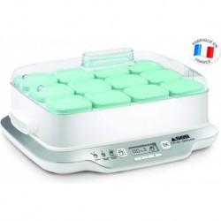 SEB Yaourtière Multi Délices Family 12 Pots Yaourt à Boire Fromage Blanc Frais Crème Dessert 600W Blanc YG6581FR