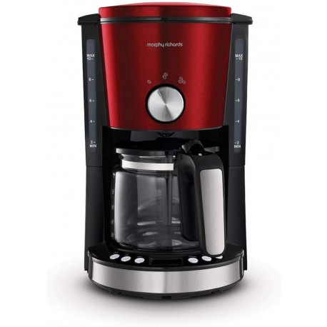 Morphy Richards Evoke Cafetière programmable - M162522EE - Rouge