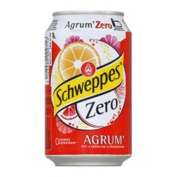 Schweppes Agrum Zero 33cl (lot de 3 packs de 24 soit 72 canettes)