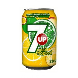 7up Tropical 33cl (pack de 24)