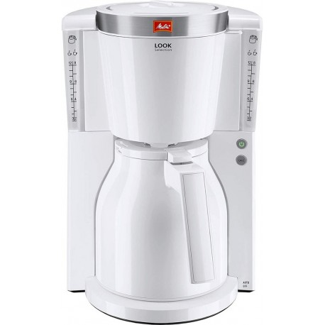 Melitta Cafetière Isotherme Look IV Therm Deluxe Blanc 1000W 15 Tasses 1011-11 (1011-13)