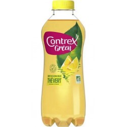 Contrex Green bio eau aromatisée Thé vert citron 75cl (lot de 6)