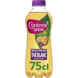 Contrex Green bio eau aromatisée Thé blanc 75cl (lot de 6)