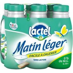 Lait Lactel Matin Léger écrémé 50cl (pack de 6)