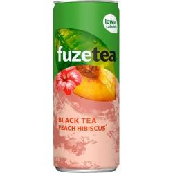 Fuze Tea Thé Noir Pêche Hibiscus 25cl (pack de 24)