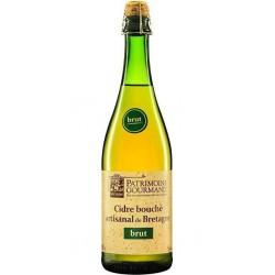 Patrimoine Gourmand Cidre brut artisanal de bretagne 5% 75 cl 5%vol.