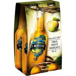 La Mordue Cidre frais fruité 6% 4 x 27,5 cl 6%vol.