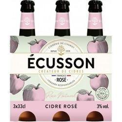 Ecusson Cidre rose naturel 3% 3 x 33 cl 3%vol.