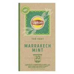 Lipton Infusion Thé Vert Marrakech Mint Nespresso x10