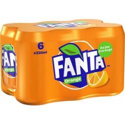 Fanta Boisson gazeuse à l'orange 6 x 33 cl