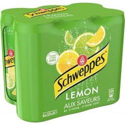 Schweppes Lemon Boisson gazeuse au citron 33 cl (pack de 6)